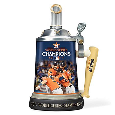 Photo of Houston Astros 2017 MLB World Series Champions Porcelain Stein by The Bradford Exchange Online