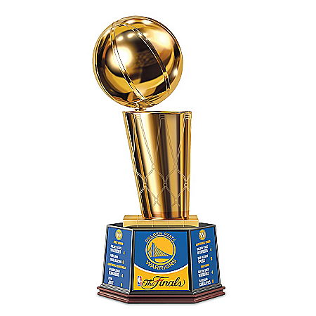 Photo of Golden State Warriors 2017 NBA Finals Commemorative Trophy Sculpture by The Bradford Exchange Online
