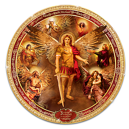 Photo of Archangels Of The Lord Masterpiece Religious Collector Plate by The Bradford Exchange Online
