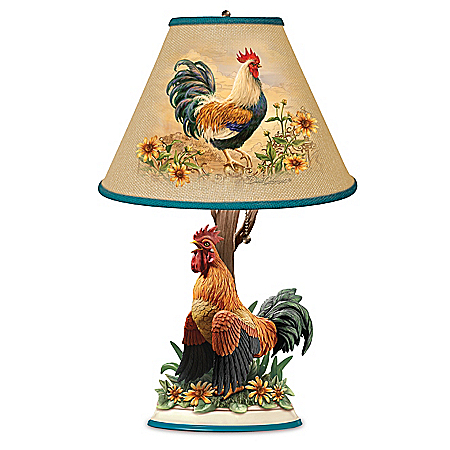 Photo of Rise And Shine Sculptural Rooster Accent Lamp by The Bradford Exchange Online