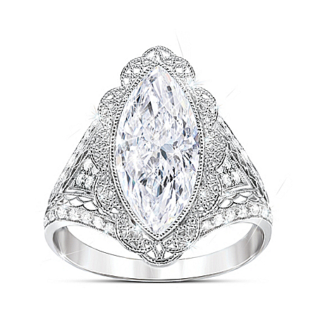 Photo of Duchess Women's Diamonesk Ring by The Bradford Exchange Online