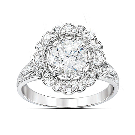 Photo of The Royal Crown Women's Diamonesk Ring by The Bradford Exchange Online