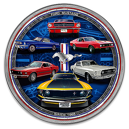 Photo of Ford Mustang Masterpiece Edition Heirloom Porcelain Collector Plate by The Bradford Exchange Online