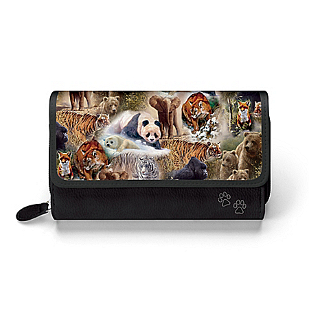 Photo of John Seerey-Lester Protect The Wild Women's Wildlife-Themed Wallet by The Bradford Exchange Online