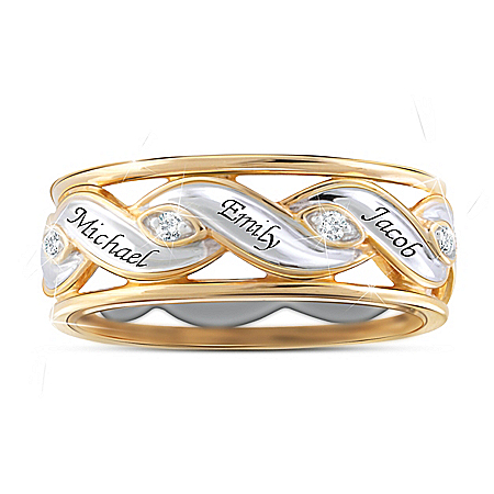 Photo of Family Is Love Women's Personalized Topaz Ring by The Bradford Exchange Online