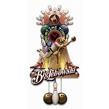 Photo of The Big Lebowski The Dude Abides Illuminated Cuckoo Clock by The Bradford Exchange Online