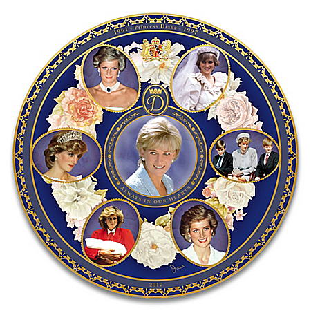 Photo of Princess Diana 20th Anniversary Heirloom Porcelain Collector Plate by The Bradford Exchange Online