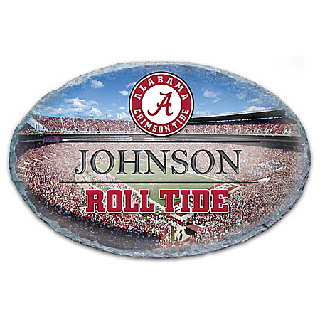 Photo of University Of Alabama Crimson Tide Personalized Outdoor Welcome Sign by The Bradford Exchange Online