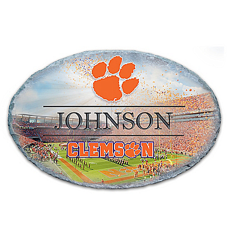 Photo of Clemson University Personalized Outdoor Welcome Sign by The Bradford Exchange Online