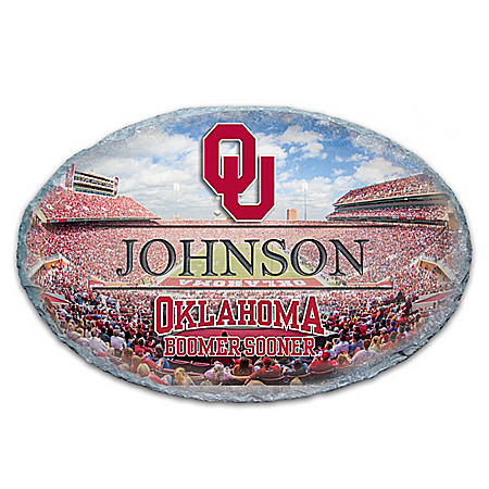Photo of University Of Oklahoma Personalized Outdoor Welcome Sign by The Bradford Exchange Online