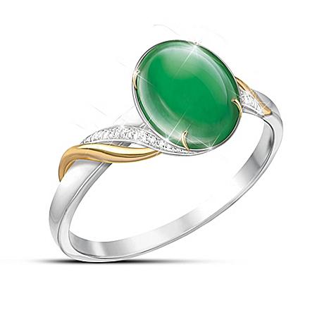 Photo of Empress Women's Burmese Jade Ring by The Bradford Exchange Online