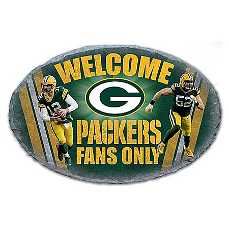 Photo of Green Bay Packers NFL Outdoor Welcome Sign by The Bradford Exchange Online
