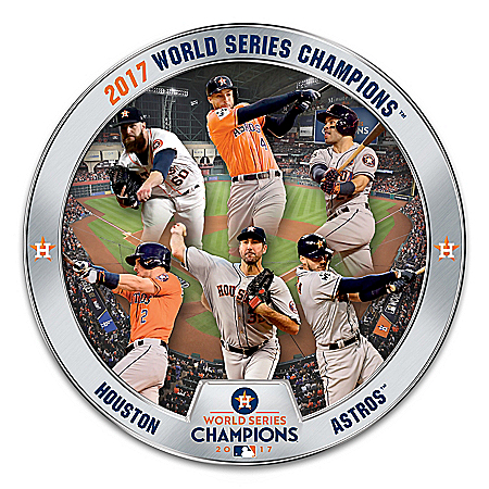 Photo of 2017 MLB World Series Champions Houston Astros Heirloom Porcelain Collector Plate by The Bradford Exchange Online