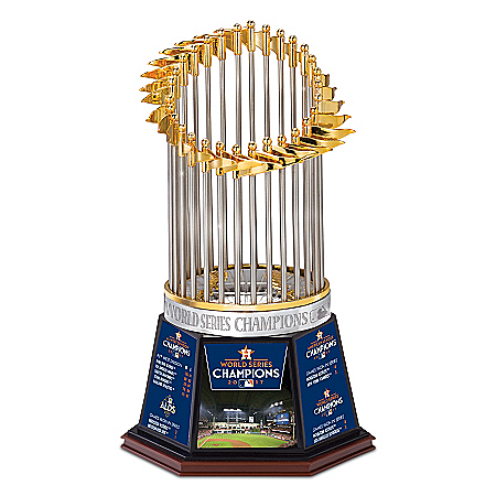 Photo of 2017 MLB World Series Champions Houston Astros Handcrafted Trophy Sculpture by The Bradford Exchange Online