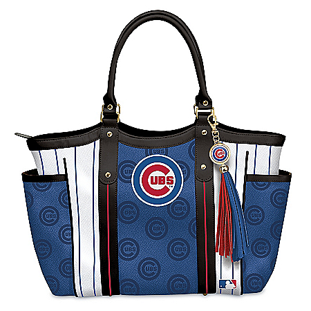 Photo of Home Run Chicago Cubs! Women's MLB Shoulder Tote Bag by The Bradford Exchange Online