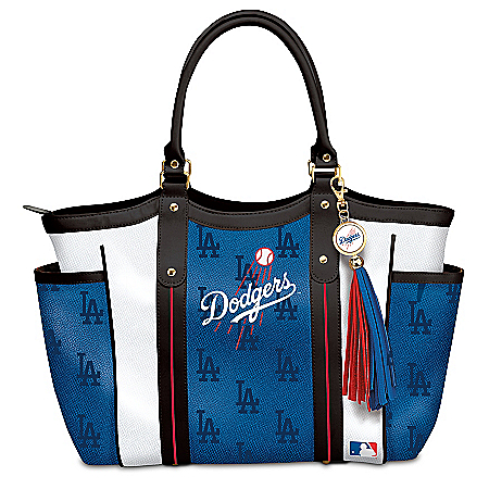 Photo of Home Run Los Angeles Dodgers! Women's MLB Shoulder Tote Bag by The Bradford Exchange Online