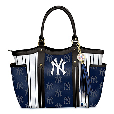 Photo of Home Run New York Yankees! Women's MLB Shoulder Tote Bag by The Bradford Exchange Online
