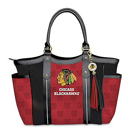 Photo of Chicago Blackhawks® Women's Shoulder Tote Bag by The Bradford Exchange Online