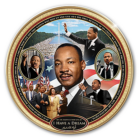 Photo of I Have A Dream: Rev. Dr. Martin Luther King Jr. Heirloom Porcelain Collector Plate by The Bradford Exchange Online
