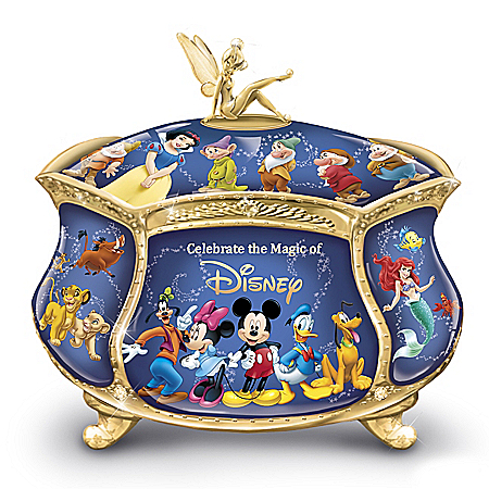 Image of Delightful Disney Characters Music Box