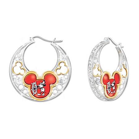 Photo of Dazzling Disney Reversible Earrings by The Bradford Exchange Online