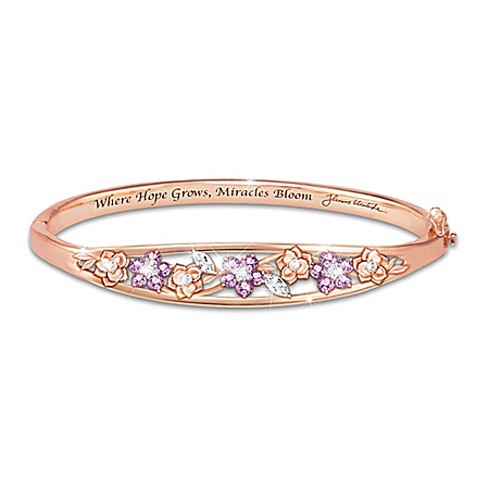 Image of Thomas Kinkade Garden Of Hope Women's Copper Bracelet