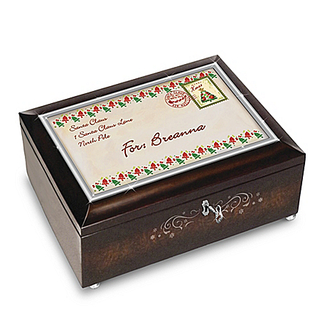 Image of A Personalized Letter From Santa Claus Christmas Music Box