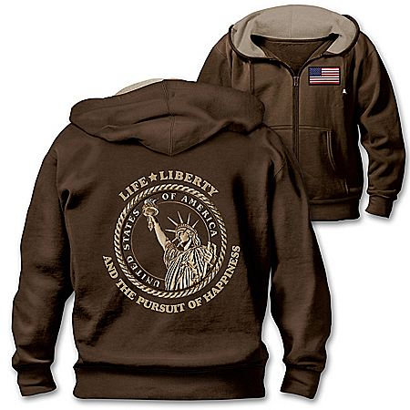 Photo of Life And Liberty Men's Hoodie by The Bradford Exchange Online