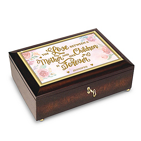 Image of A Mother's Love Is Forever Music Box With Children's Names