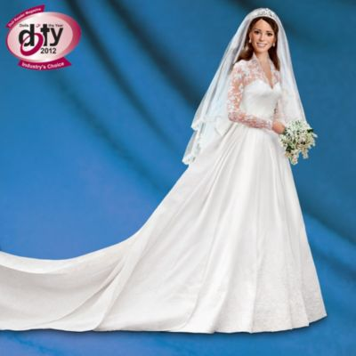 Kate Middleton Commemorative Porcelain Bride Doll by