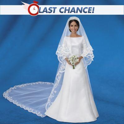 Meghan Markle Royal Romance Fine Porcelain Bride Doll