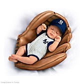 Born A Yankees Fan Baby Doll