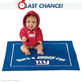 Born A Giants Fan Baby Doll