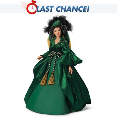 Gone With The Wind  Scarlett OHara Dressed Like A Queen Talking ... 355821f53