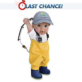 Reel Cute Hooked On Fishing Child Doll
