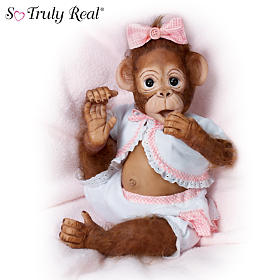 Cute As A Button Monkey Doll