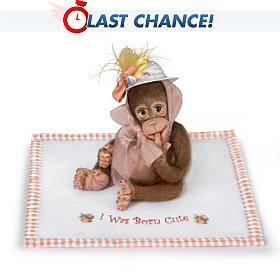 I Was Born Cute Monkey Doll