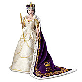 Queen Elizabeth II Commemorative Coronation Portrait Doll