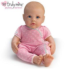 So Truly Mine Baby Doll: Blonde Hair, Blue Eyes