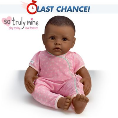 So Truly Mine Baby Doll Black Hair Brown Eyes African