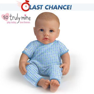 So Truly Mine Baby Doll Light Brown Hair Blue Eyes Boy