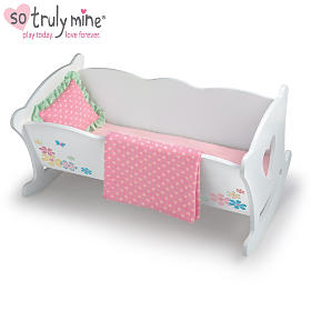Rocking Cradle Baby Doll Accessory Set