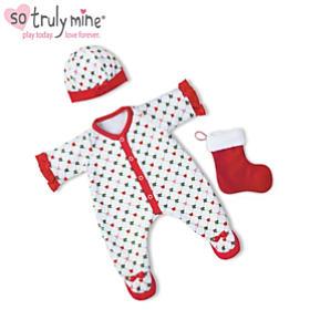 Holiday Pajamas Baby Doll Accessory Set