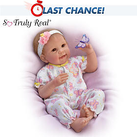 Butterfly Kisses & Flower Petal Wishes Baby Doll