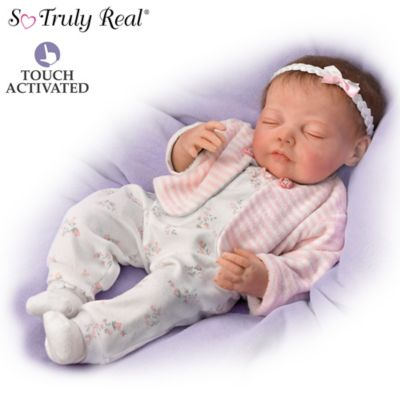 Jannie DeLange Poseable Baby Doll Breathes And Has Heartbeat by