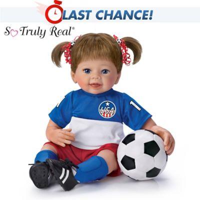 Linda Murray Dream Big Lifelike Poseable Soccer Player Doll by