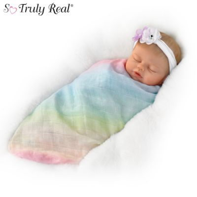 So Truly Real Swaddled So Sweetly Lifelike Baby Doll