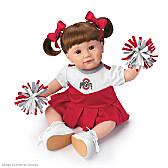 Ohio State Cheerleader Child Doll