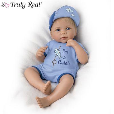 So Truly Real Im A Catch Baby Boy Doll