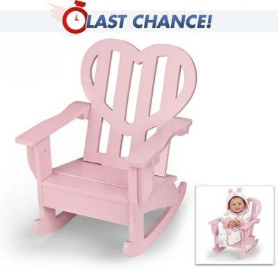 Astounding Pink Heart Rocking Chair Doll Accessory For Dolls Up To 23 Ibusinesslaw Wood Chair Design Ideas Ibusinesslaworg